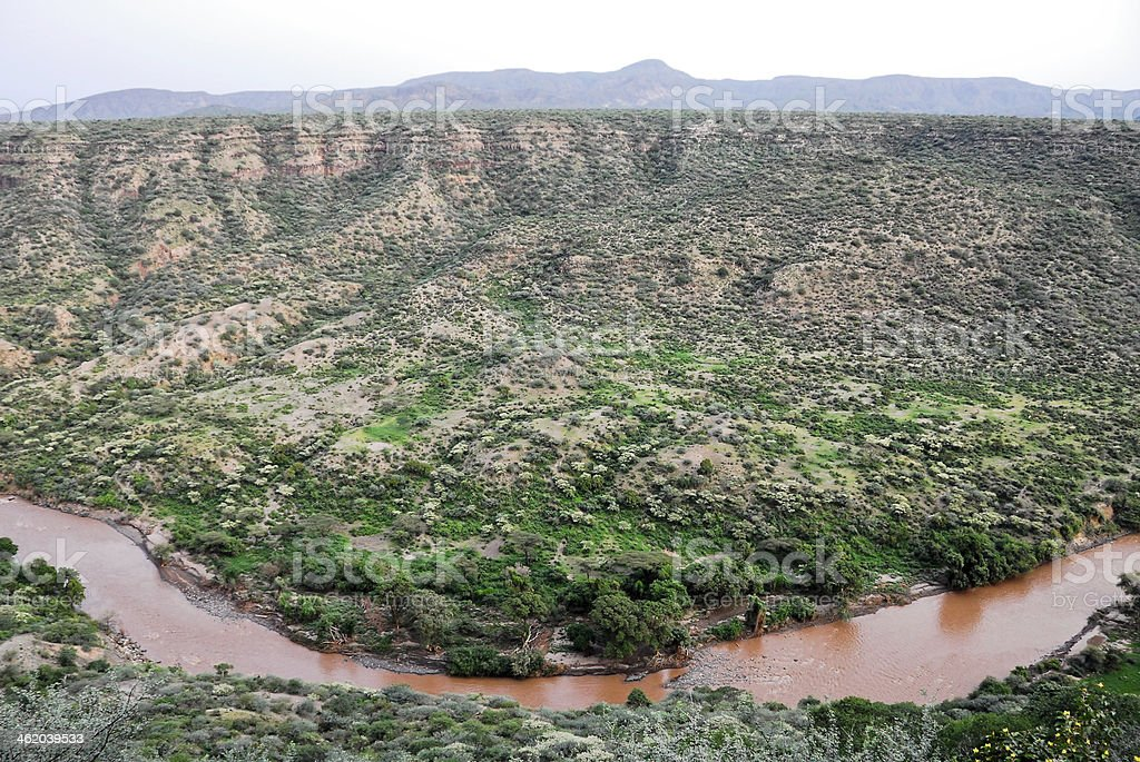 Canyon at Awash National Park (Ethiopia) stock photo