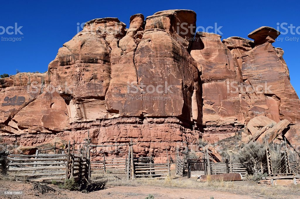 Canyon Corral stock photo