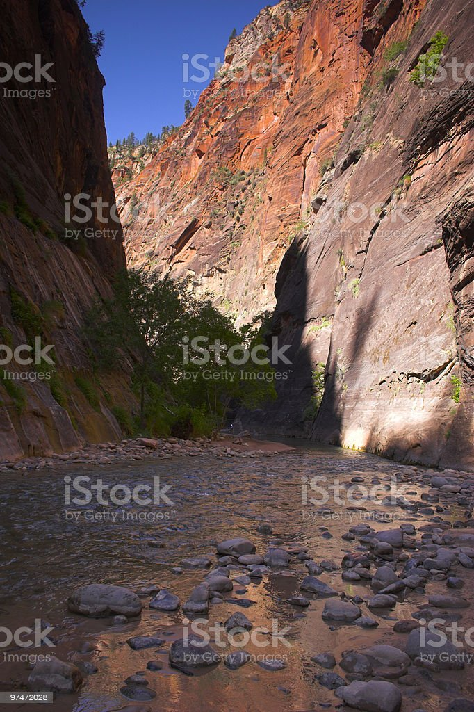 Canyon creeks and rivers stock photo