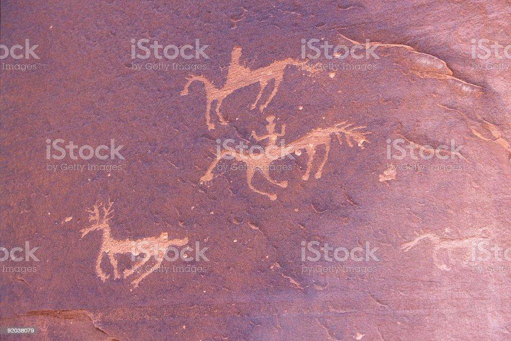 Canyon de Chelly Rock Art detail royalty-free stock photo