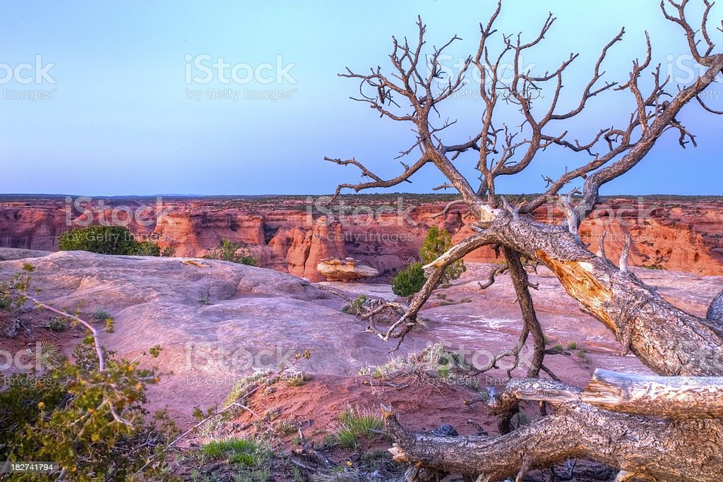 Canyon di Chelly tramonto foto stock royalty-free