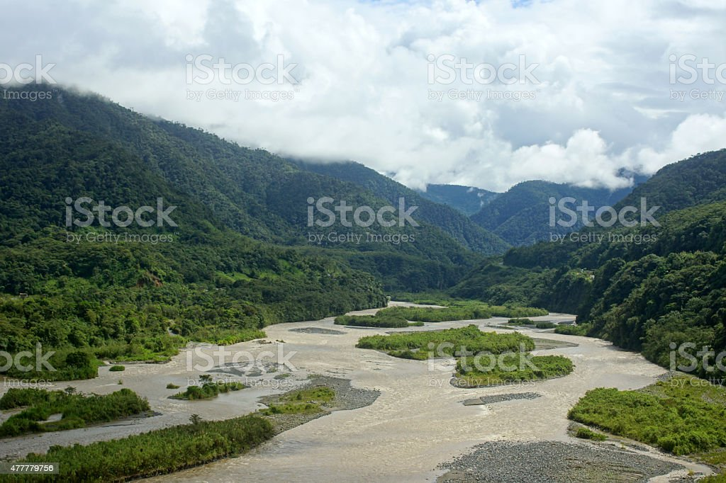 Canyon de Pastaza stock photo