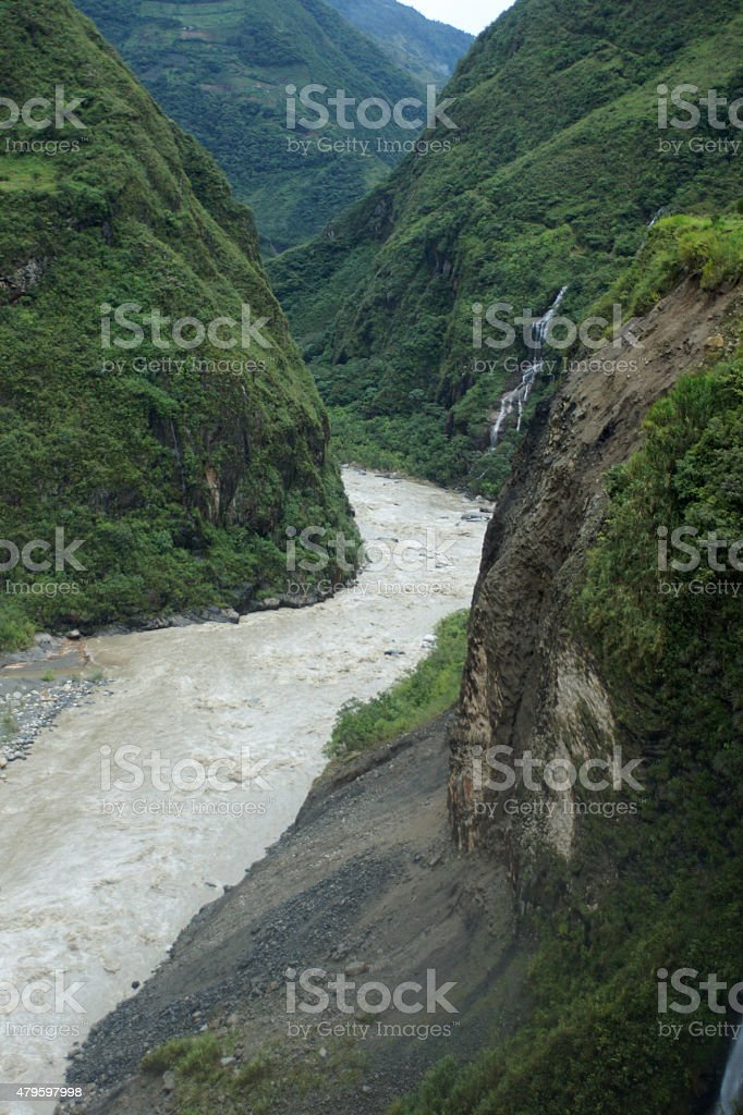 Canyon de Pastaza stock photo