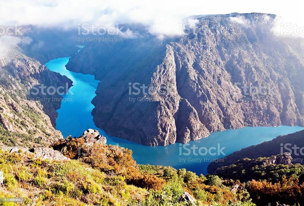 Canyon de Rio Sil, Galicia, Spain stock photo
