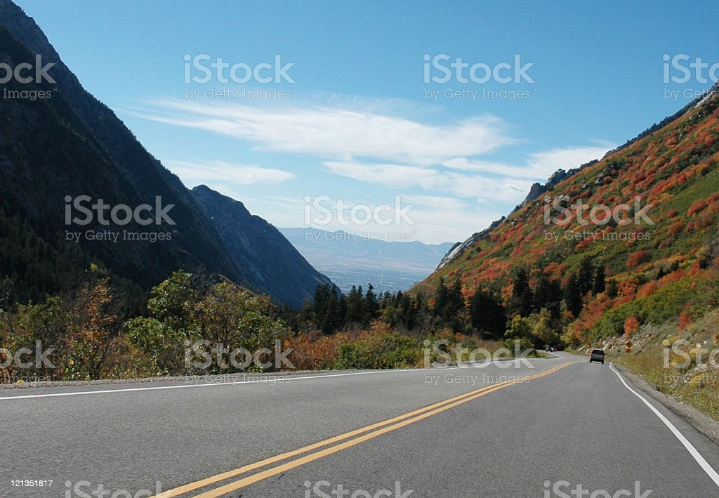 Canyon Drive stock photo