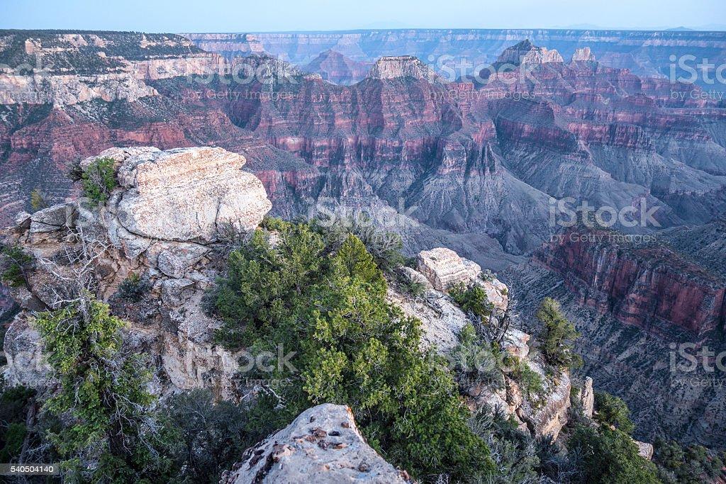 Canyon dusk light stock photo