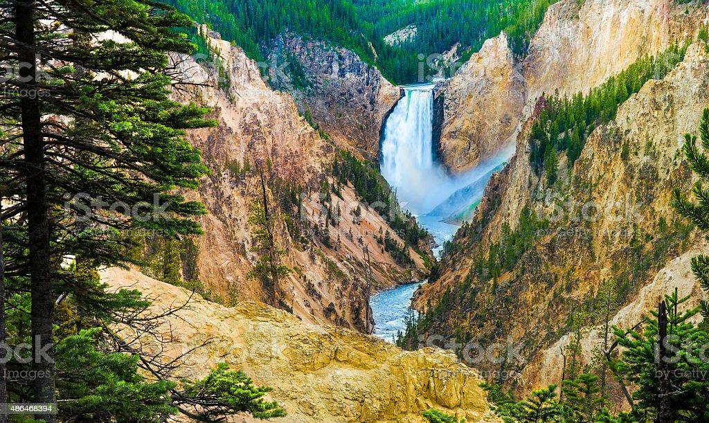 Canyon Falls, Yellowstone National Park. stock photo
