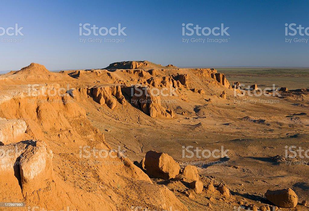 Canyon, Gobi Desert, Mongolia royalty-free stock photo