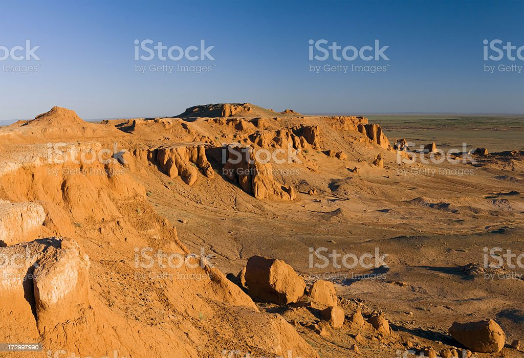 Canyon, Gobi Desert, Mongolia stock photo