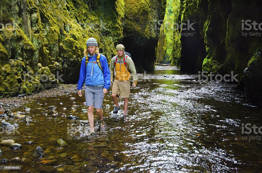 Canyon Hikers royalty-free stock photo
