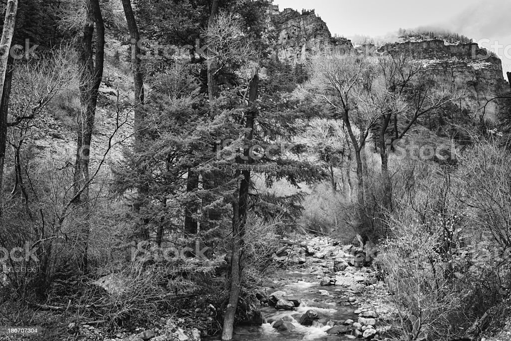Canyon in Black and White stock photo