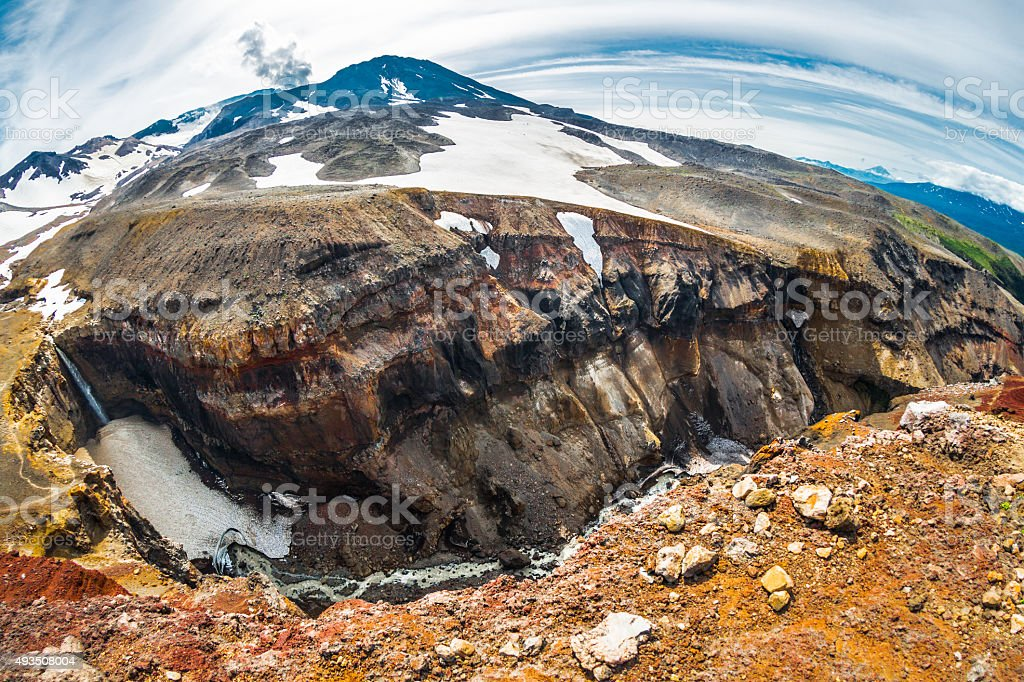 Canyon in Caldera Volcano stock photo