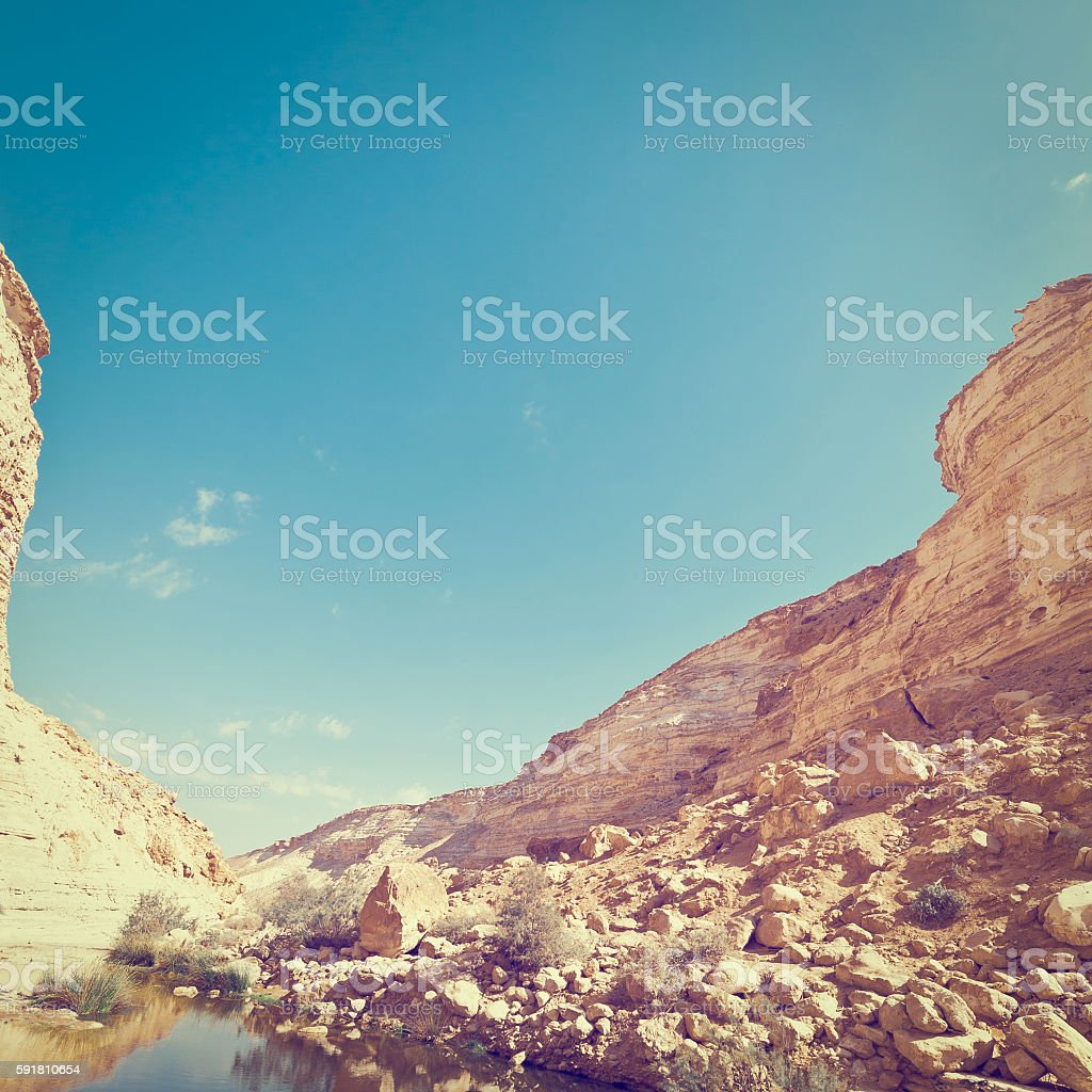 Canyon in Desert stock photo