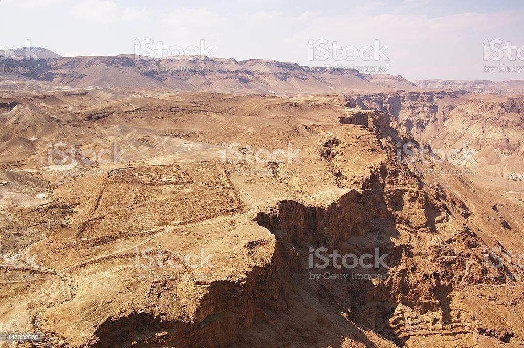 canyon in Judea desert stock photo