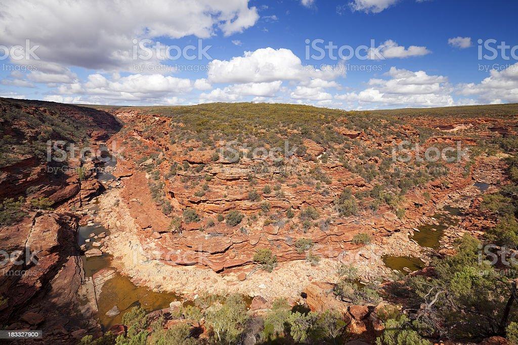 Canyon in Kalbarri National Park, Western Australia stock photo