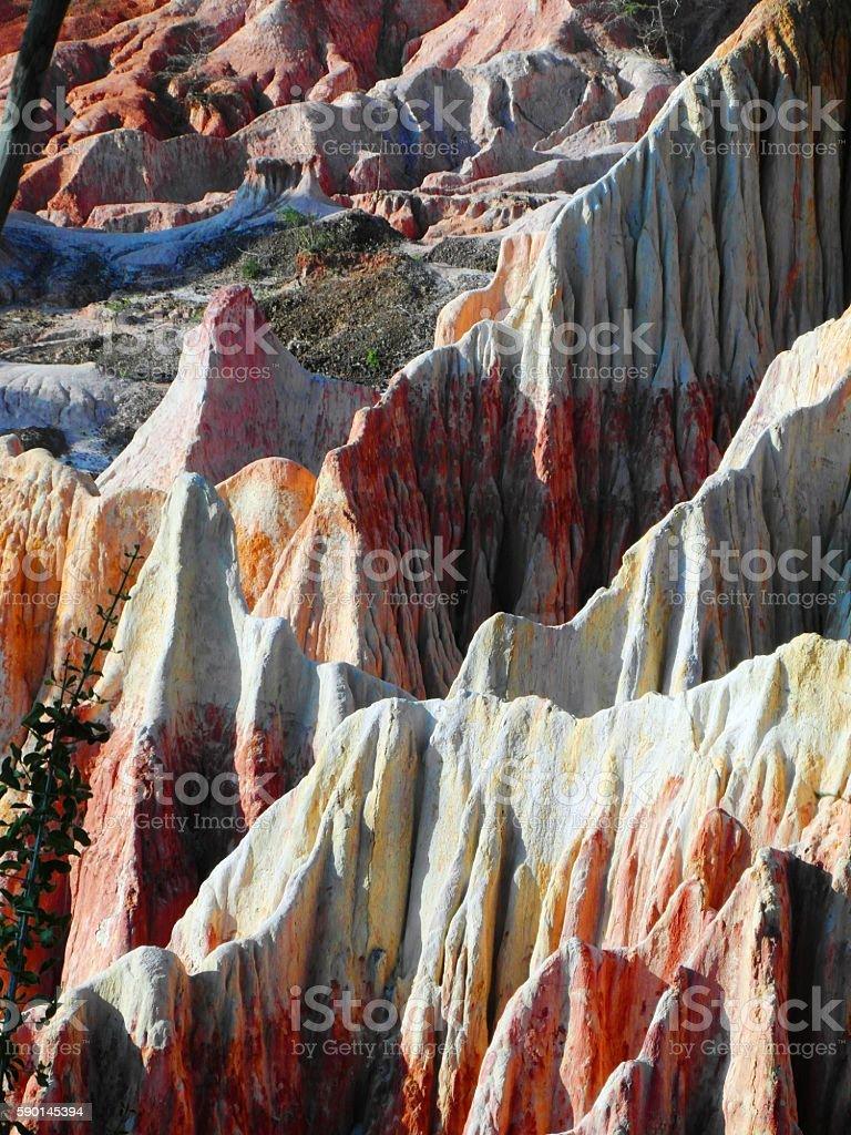 Canyon in Kenya stock photo