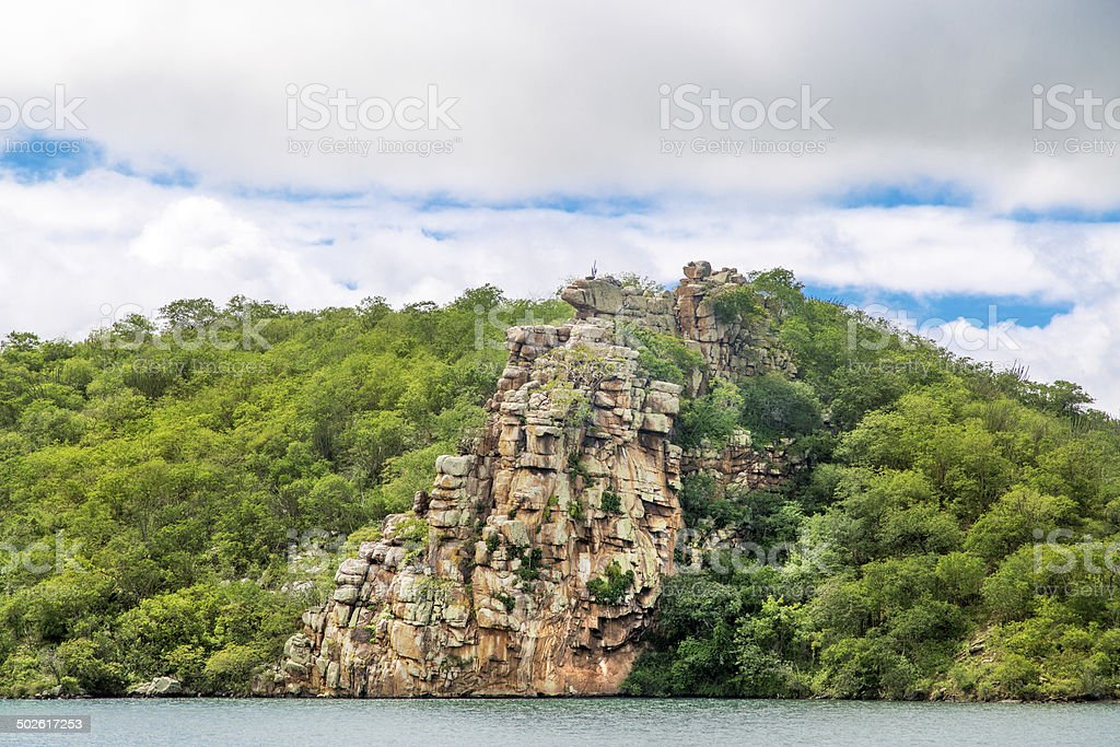 Canyon in Sao Francisco River, Brazil royalty-free stock photo