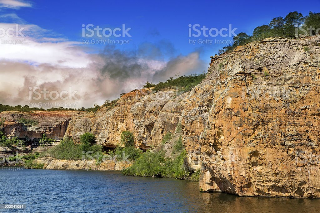 Canyon in Sao Francisco River, Brazil royalty-free stock photo