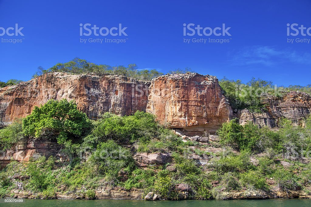 Canyon in Sao Francisco River, Brazil stock photo