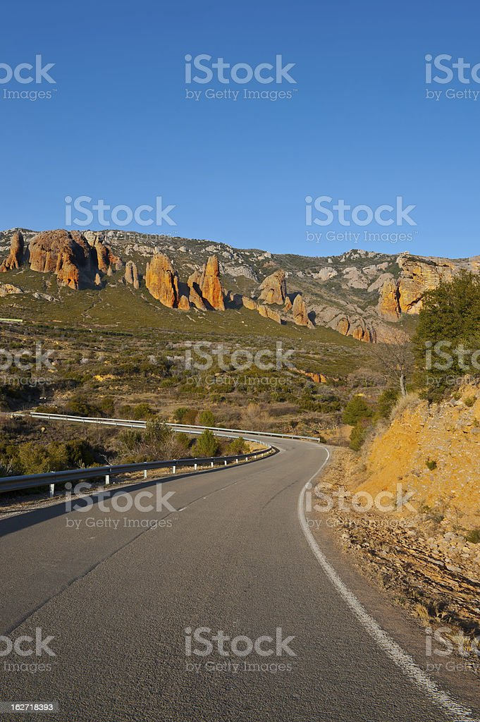 Canyon in Spain royalty-free stock photo