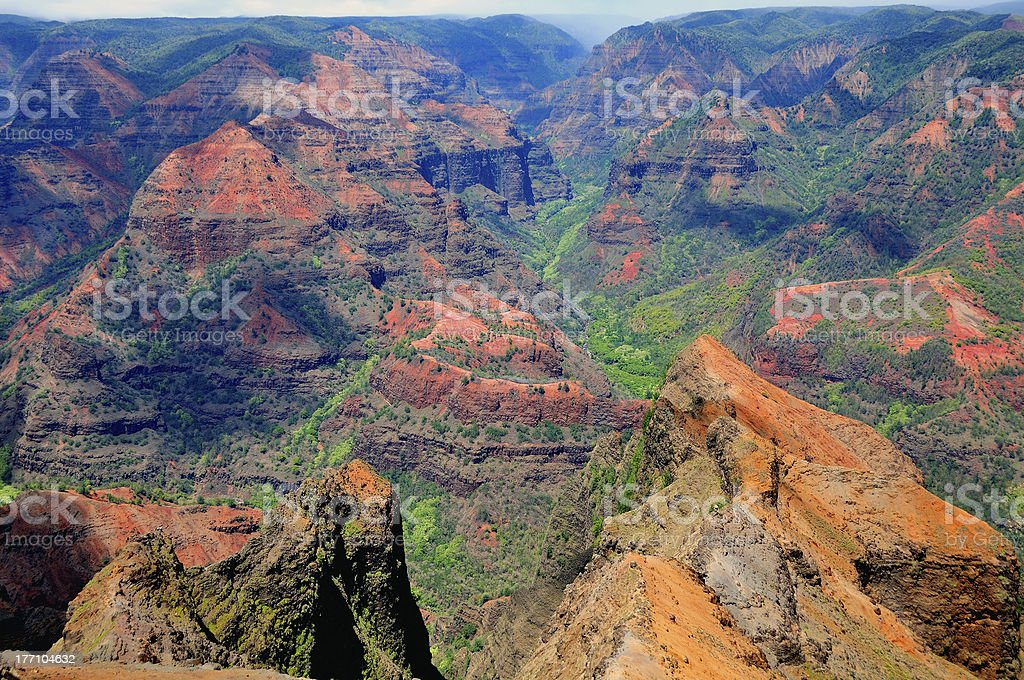 Canyon in the Tropics stock photo