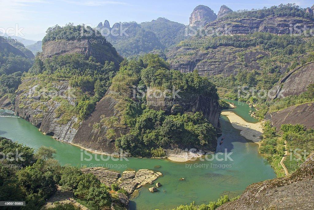 Canyon in Wuyishan Mountain, Fujian province, China stock photo