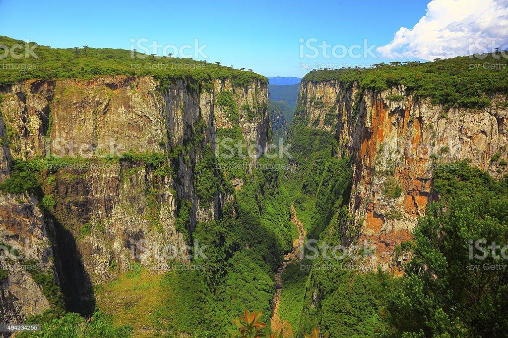 Canyon Itaimbezinho in Rio Grande do Sul, Southern Brazil stock photo