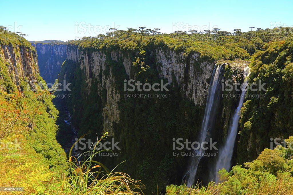 Canyon Itaimbezinho in Rio Grande do Sul, Southern Brazil stock photo