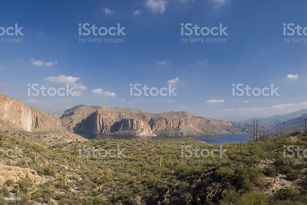 Canyon Lake Vista stock photo