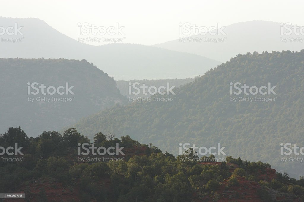 Canyon Mesa Desert Landscape Haze stock photo