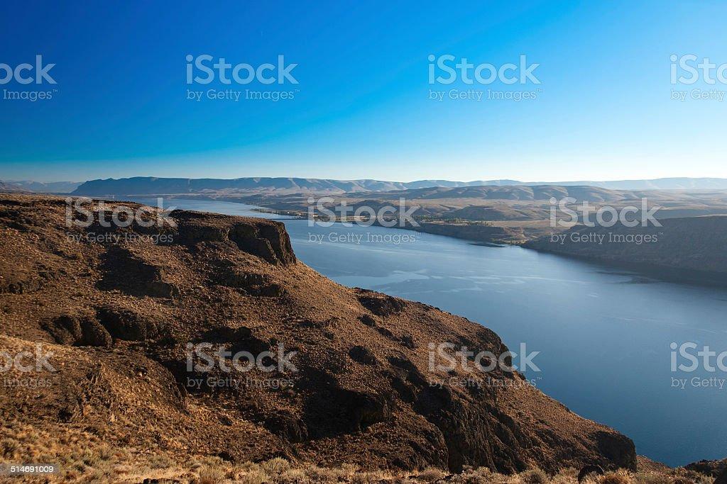 Canyon of Columbia river, Washington, USA stock photo