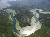 Canyon of river Crnojevica, Montenegro.
