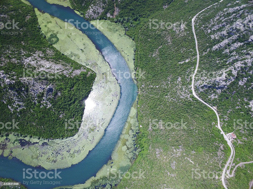Canyon of river Crnojevica, Montenegro. stock photo