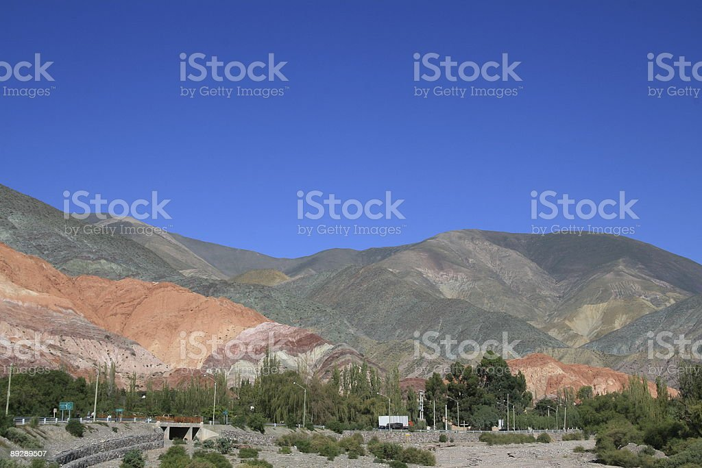 Canyon of seven colors near Salta in Argentina royalty-free stock photo