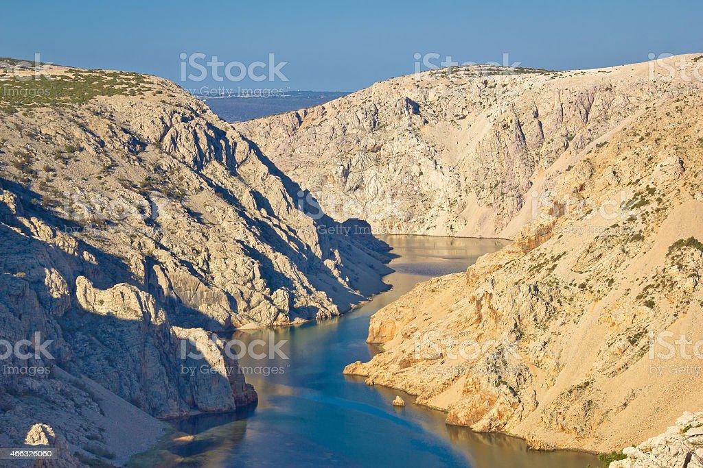 Canyon of Zrmanja river in Croatia stock photo