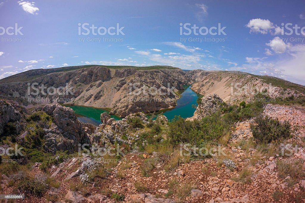Canyon of Zrmanja river stock photo