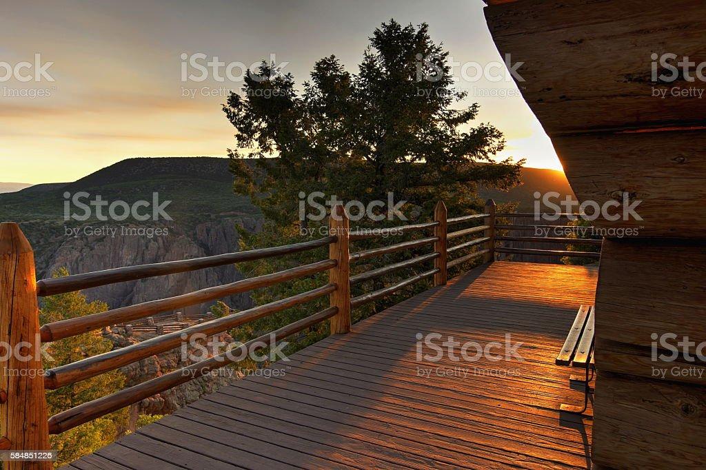 Canyon Overlook stock photo