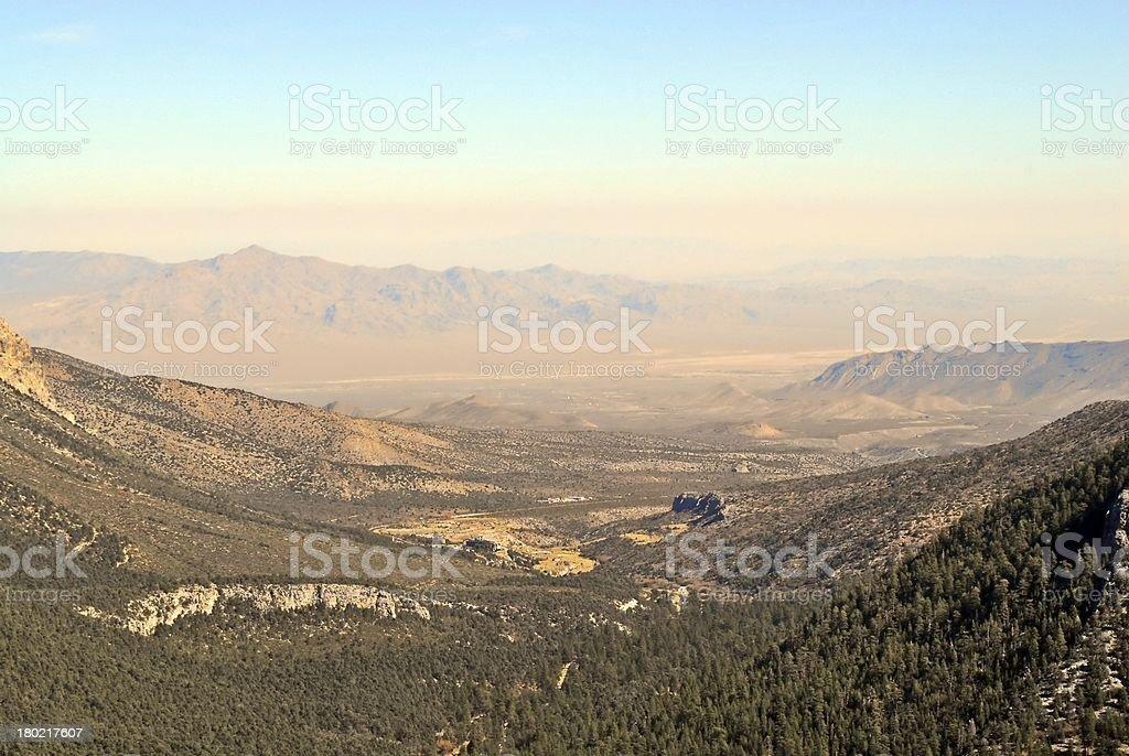 Canyon receding into desert royalty-free stock photo