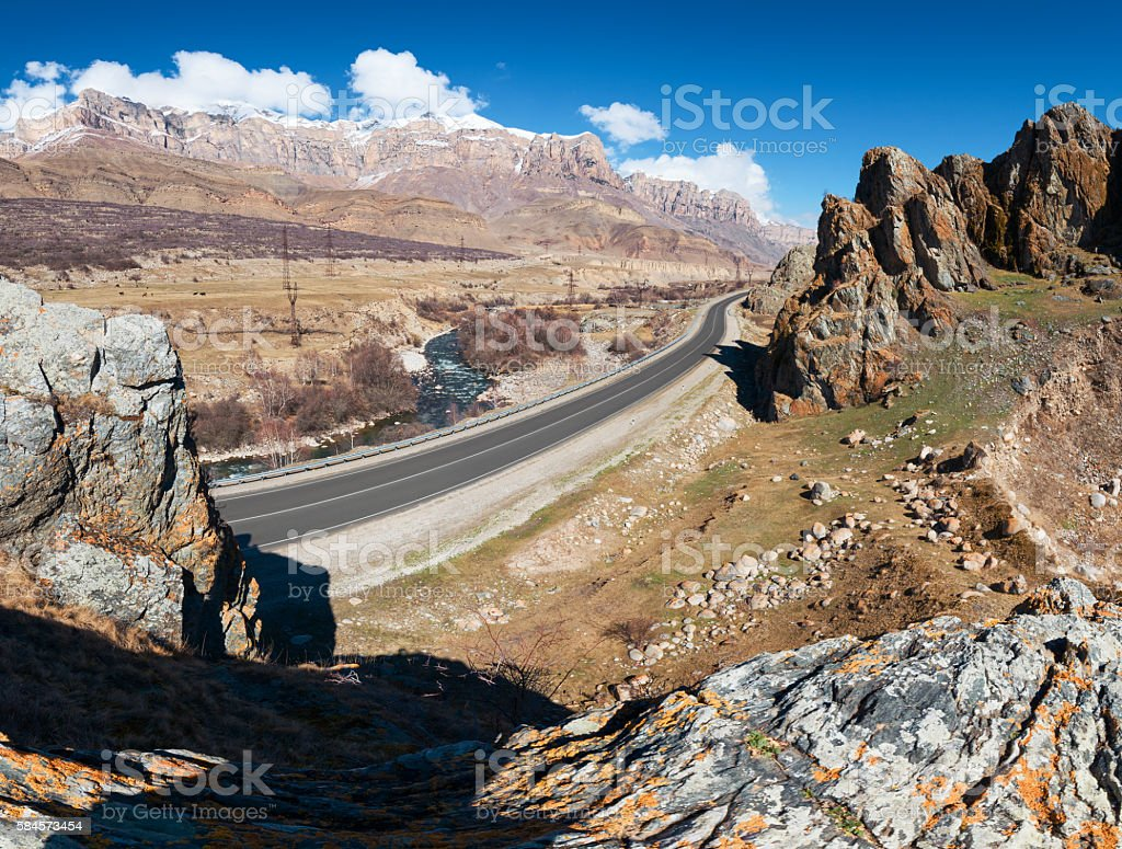 Canyon road stock photo