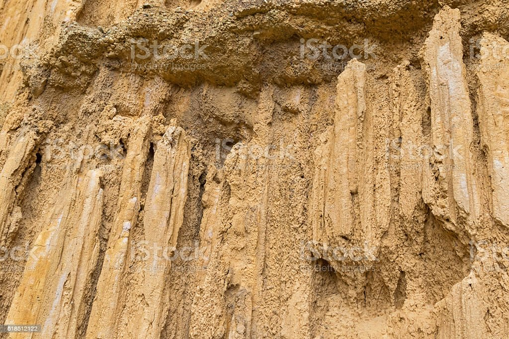 Canyon, rock sculptured for million years, Pha Chor, Chiangmai Thailand stock photo