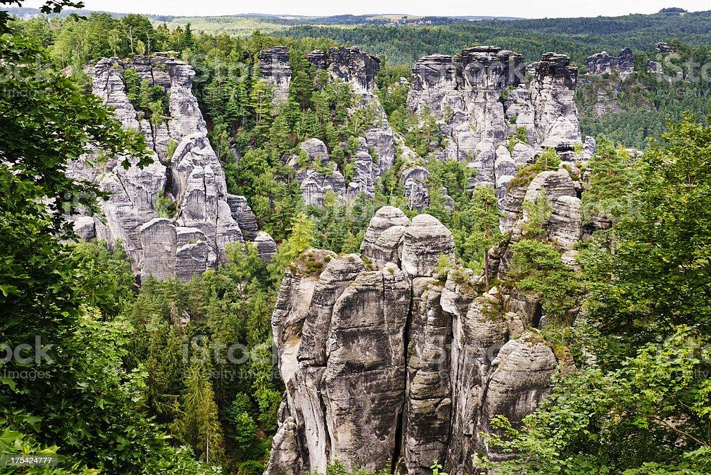 Canyon Saxon Switzerland stock photo