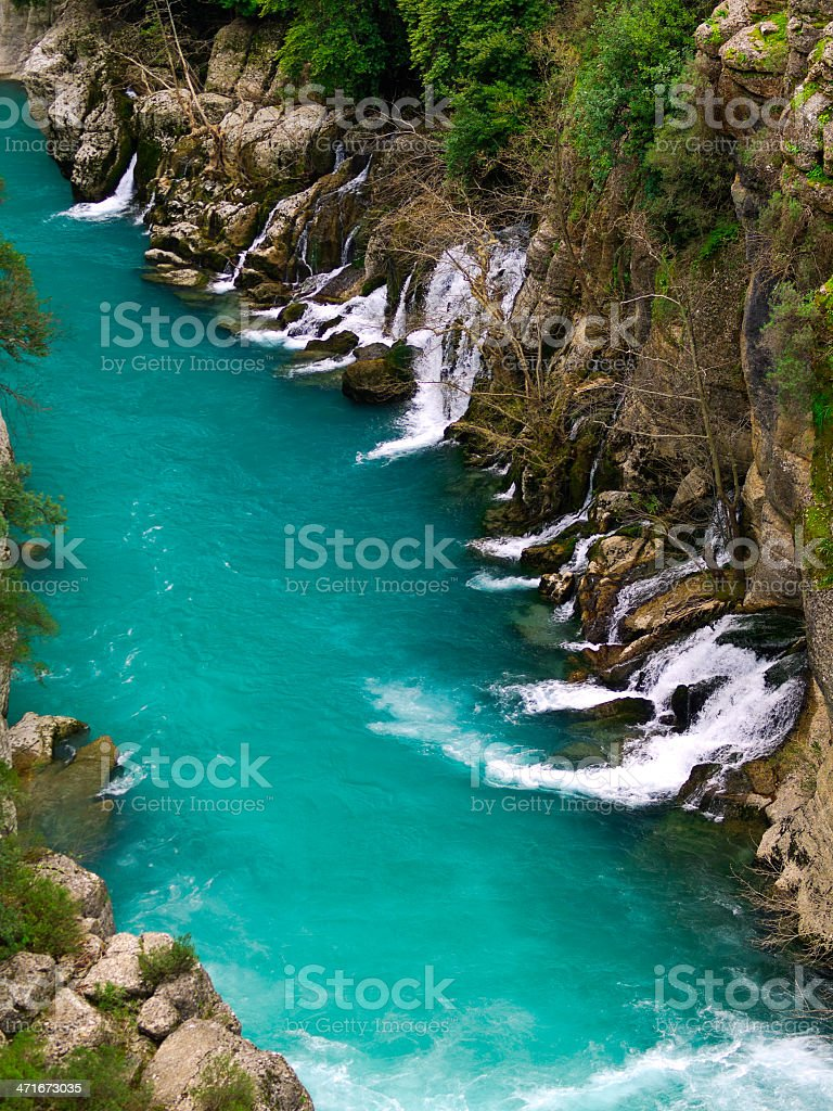 Canyon springs stock photo