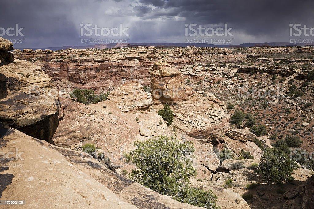 Canyon Storm at Canyonlands National park stock photo