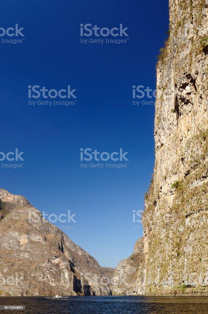 Canyon Sumidero in Mexico stock photo