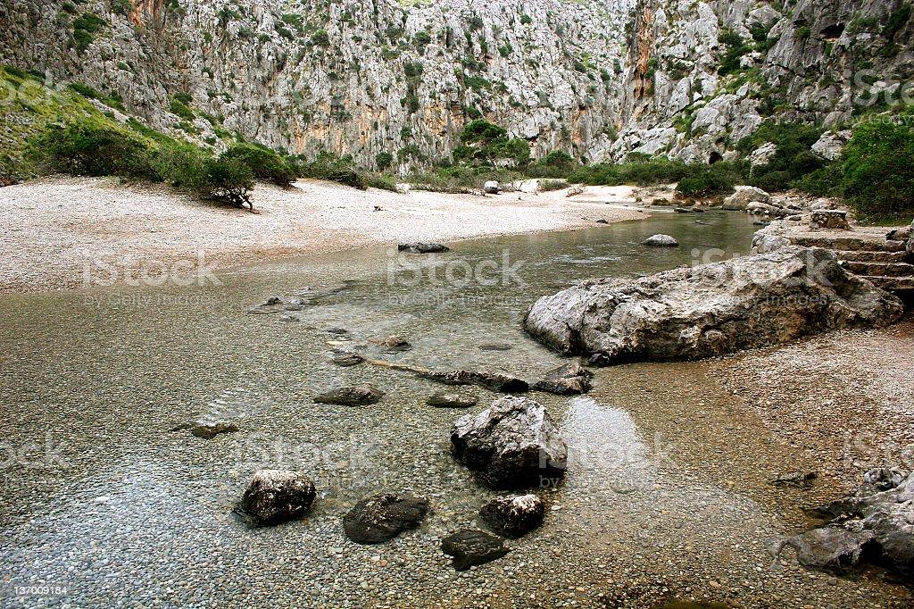 Canyon Torrent de Pareis in Majorca, Spain stock photo
