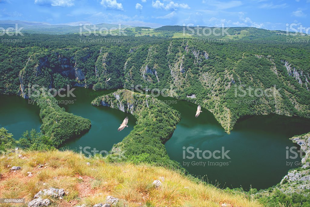 Canyon Uvac,Serbia Beautiful nature stock photo