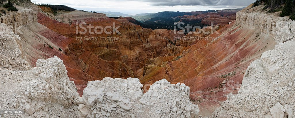 Canyon View at Cedar Breaks stock photo
