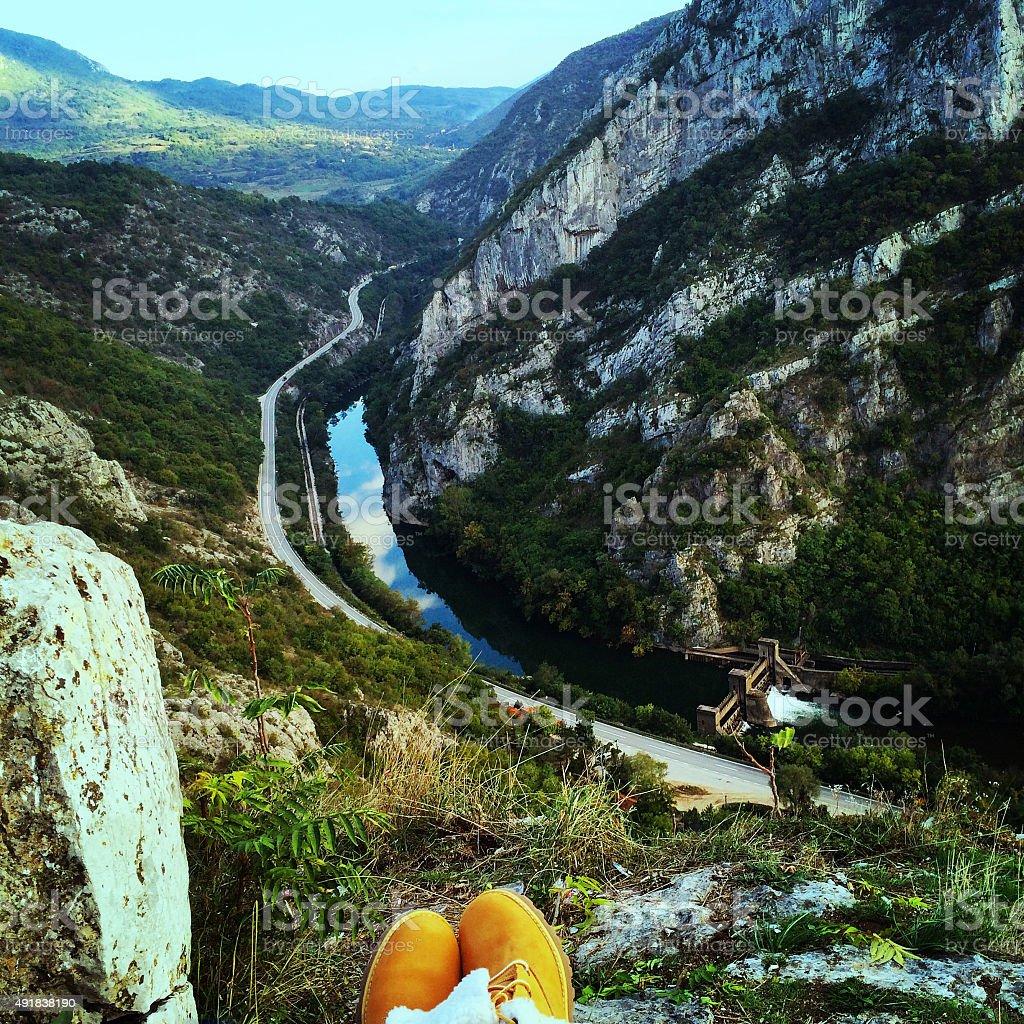 Canyon view stock photo