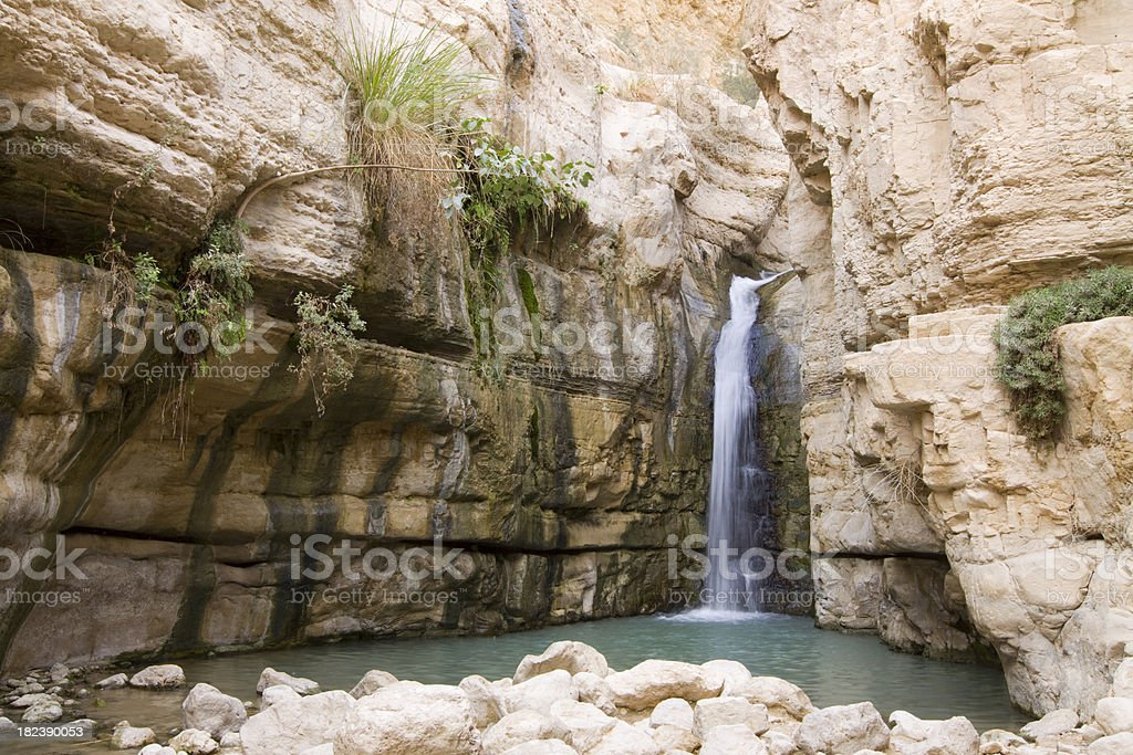 Canyon waterfall stock photo