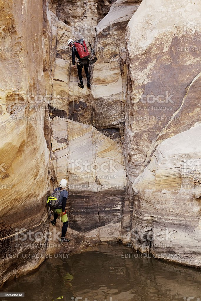 Canyoneering stock photo